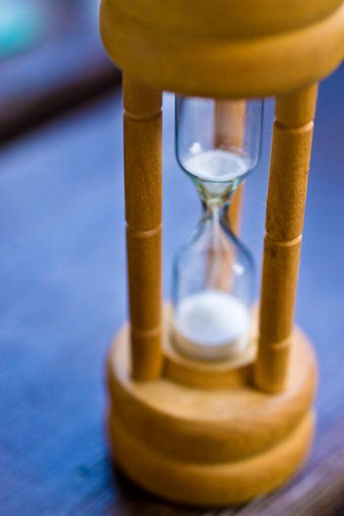 短時間の砂時計