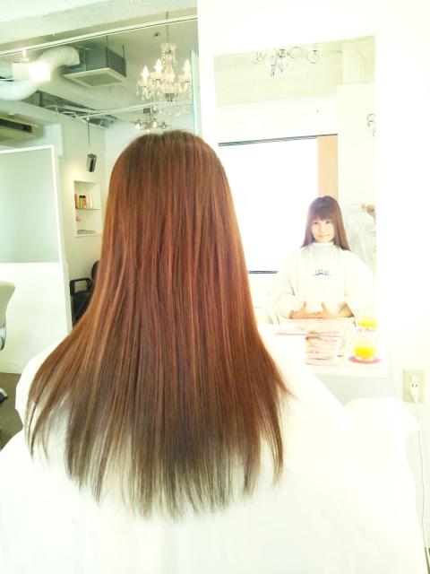 サラサラで健康的な髪の毛