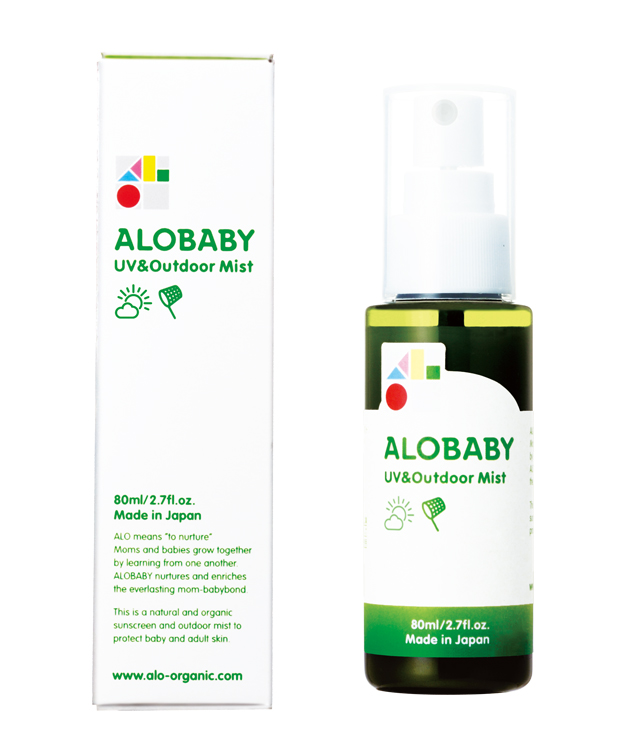 1. ALOBABY UV&アウトドアミスト SPF15・PA++