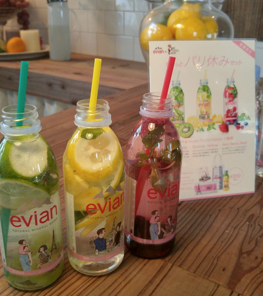 evian fruits water