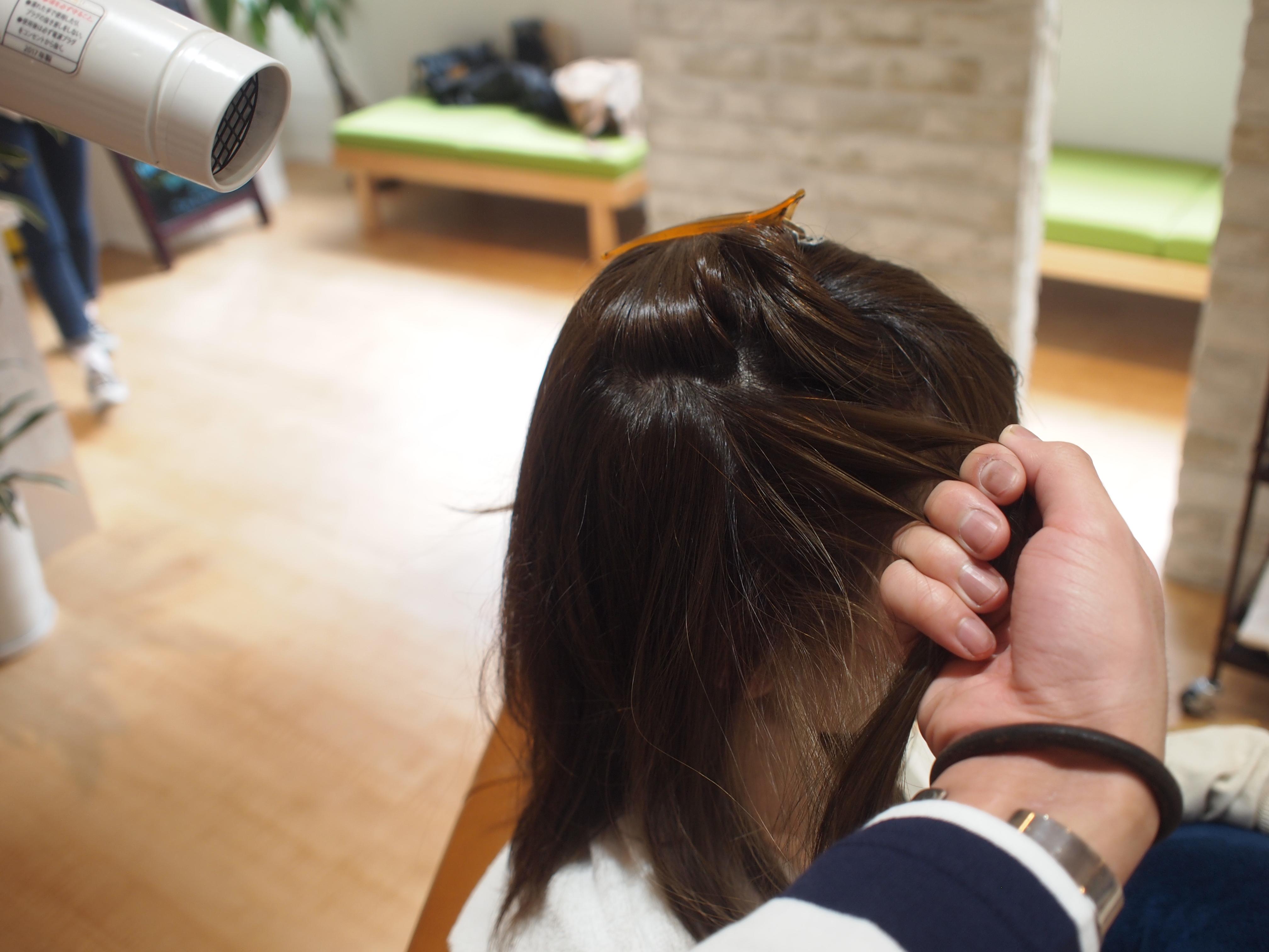 髪の内側から乾かす