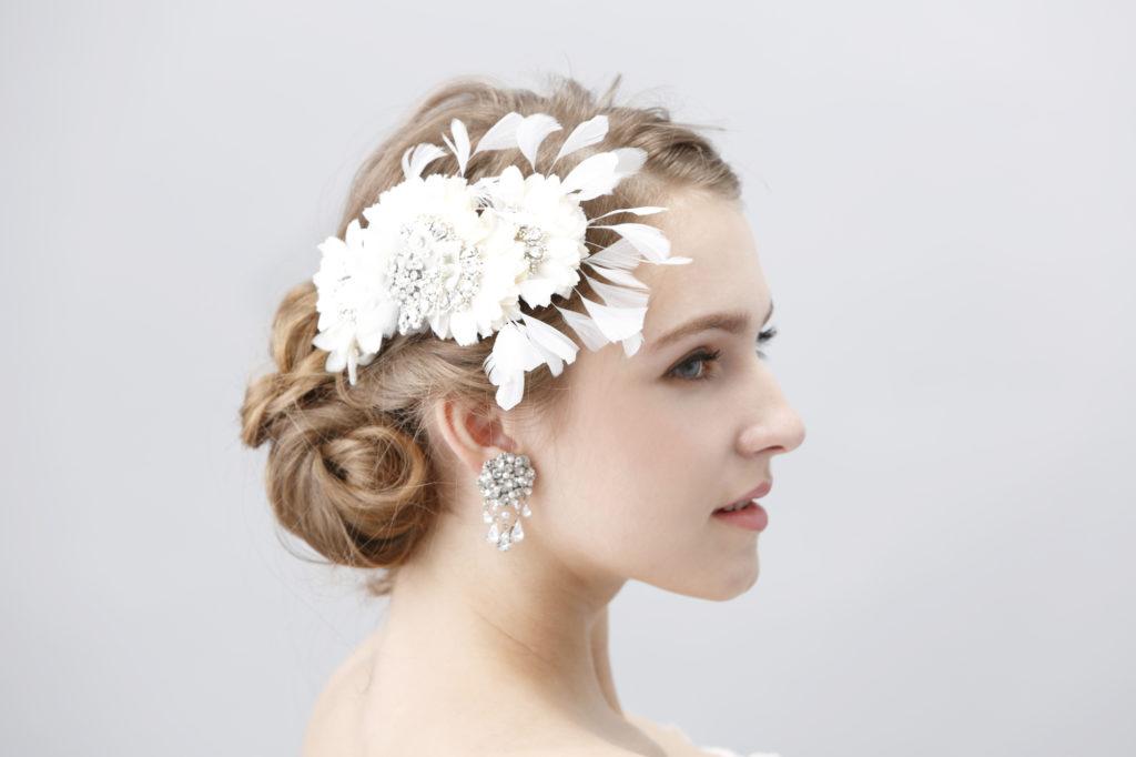 花のヘアアクセ